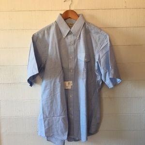 Men's LL Bean Short Sleeve Dress Shirt 17 NWT